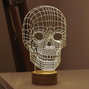 China Amazing 3D Illusion Light Skull LED Table Lamp Night Light on sale