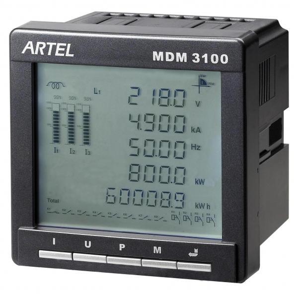 Digital Electric Power Meters : Ethernet multifunction power meter panel digital