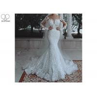 Buy cheap Soft Long Sleeve Mermaid Wedding Gown Long Fishtail Special Beaded from wholesalers