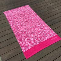 Wholesale Soft Women Designer Beach Towels Reactive Print Pink And White Flower from china suppliers