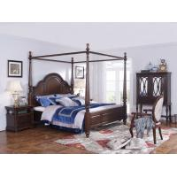 Wholesale Palatial Villa House Bedroom Furniture set Classic Wooden King size Bed with Grand Night table with Decoration display from china suppliers