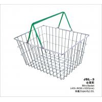Wholesale Small Retail Store Metal Shopping Basket Chrome Plating 400x300x215mm from china suppliers