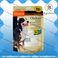 Dog Customized Pet Food Bag Recycled With Bottom Gusset and Zipper