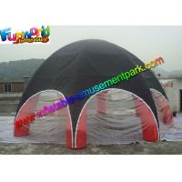 China UV-treated PVC Coated Nylon Outdoor Inflatable Party Tent  Red  / Black on sale