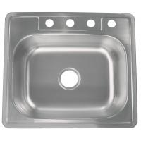 China Commercial Undermount Single Bowl Kitchen Sink 25X22X9 Easy Cleaning on sale
