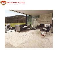 Wholesale Sofitel Gold Cream Block Bookmatch Marble Stone Tile With 0.25% Water Absorption from china suppliers