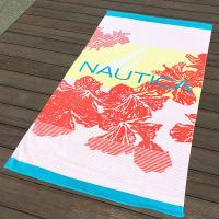Wholesale Hula Flower Printed Beach Towels , Rose Red Color Bath Towel Sheets from china suppliers