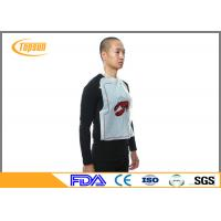 Wholesale Custom Printed Disposable Plastic Bibs Restaurant PE Bibs For Food eating from china suppliers