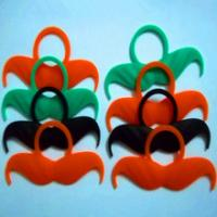Wholesale custom logo silicone whiskers for party,welcome custom design from china suppliers