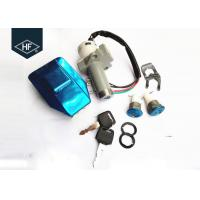 Wholesale Other Motorcycle Parts 4 wire Silver Aluminum WY125 Motorcycle tank cover Key Switch Lock set kits from china suppliers