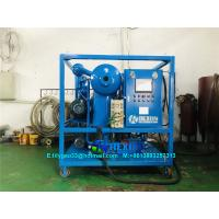 China Vacuum Processing Insulation Oil Processing Unit Dewater and Degas From Oil on sale