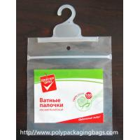 Buy cheap Customized Poly Bags With Hangers / Laminated PET T Shirt Packing Bag from wholesalers