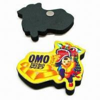 Wholesale Refrigerator magnet, made of paper or rubber, flat or 3D cubic from china suppliers