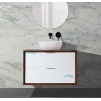 Wholesale Simple Handlebars Solid Timber Bathroom Vanity , PVC Custom Timber Vanity from china suppliers