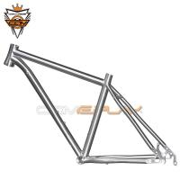 Wholesale Ultra Light Titanium MTB Frame 29er 27.5er 26er With Inner Cable Routing from china suppliers