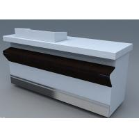 Wholesale Commercial Steel Edge Retail Shop Counters , Practical Store Checkout Counter from china suppliers