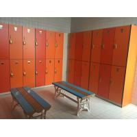 Wholesale Strong / Durable Red Changing Room Lockers PVC Material With Cam Lock from china suppliers