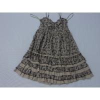 China Shoulder-Straps Womens Sexy Dress , Silk Cotton Printing on sale