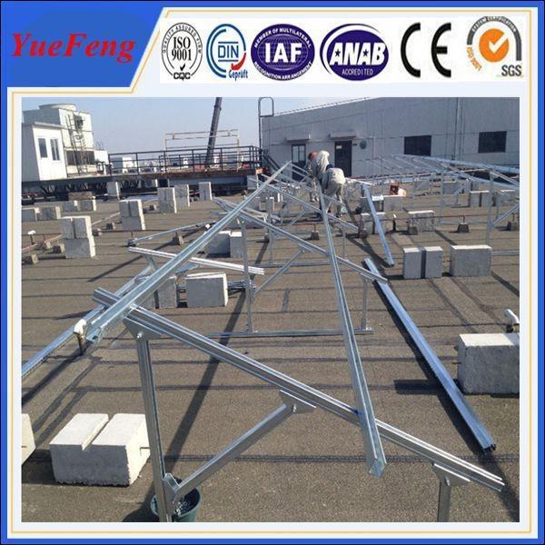 Concrete Base Solar Panel Rack Mount Aluminum Pv Ground