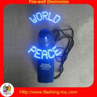 China Portable color Led Customized character Flashing Mini Fan manufacturer & Suppliers on sale