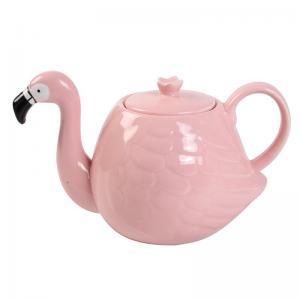 Wholesale White Wedding 780ml Pot Flamingo Tea Set from china suppliers