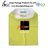 Wholesale Yellow Die cut HDPE Patch Handle Bags Personalised Carrier Bags for Shopping from china suppliers