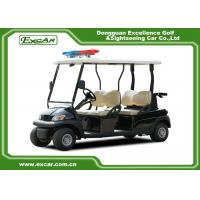 Wholesale 4 Seats ADC 48V 3.7KW Electric Patrol Car with caution light from china suppliers