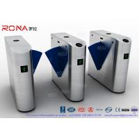 Wholesale Entrance Flap Barrier Gate Turnstile SUS 304 With Fingerprint Recognition System from china suppliers