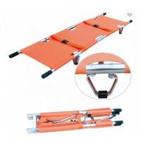 China PVC Emergency Stretcher Trolley Popular Scoop Style Collapsible Stretcher Ambulance on sale