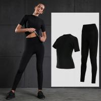 Wholesale Durable Black Sweating Suit For Ladies Running Clothes M , L , XL Size from china suppliers