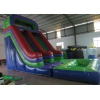 Wholesale Dark Green Large Commercial Inflatable Water Slides / Bounce House With Slide from china suppliers