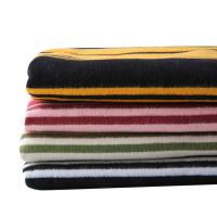Wholesale 100% Thick Cotton Flannel Stripe Fabric For Winter Coat from china suppliers