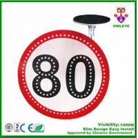 Wholesale solar powered traffic sign international speed limit sign road sign boards custom speed limit traffic sign from china suppliers