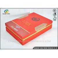 China Red Luxury Convenient Packaging Cardboard Gift Boxes With Lid For Tea on sale