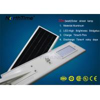 Quality Outdoor LED Motion Sensor Light Solar Street Lamp 4 Rainy Days Discharge Time for sale
