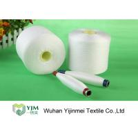 High Tenacity 100 Polyester Spun Yarn , Dyed Polyester Yarn On Plastic Cylinder Cone