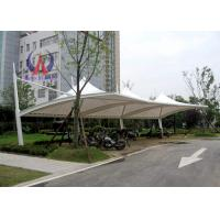 PDFE Parking Tensile Structure Driveway Car Canopy Tents , Car Awning Shelter With Membrane Sail