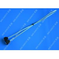Wholesale Blue Slim Down Angle 7 Pin SATA Data Cable Female to Female With Locking Latch from china suppliers