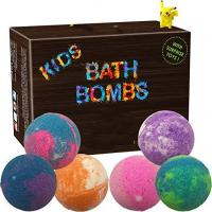 China Single Color Kid Safe Bath Bomb Set With Surprise Toys , 6 x 5oz Fun Assorted Colored XL Bath Fizzer on sale