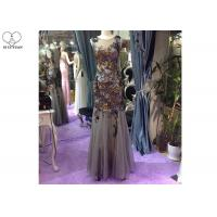 Wholesale Floor Length Long Sequin Mermaid Dress Sleeveless Special Color Tulle Fabric from china suppliers
