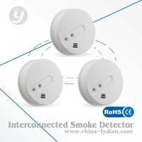wireless optical smoke detector interconnectable for security alarm system. Black Bedroom Furniture Sets. Home Design Ideas