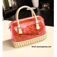 Wholesale New Fashion Transparent + Leopard Silicone Handbag with 5 Different Color from china suppliers