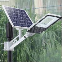 Quality 6500K Waterproof Solar Powered LED Street Lights High Power Garden Lighting 60W for sale