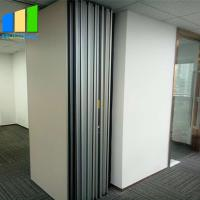 Wholesale EBUNGE Sliding Folding Partitions Movable Walls Space Divider MDF Finish For Office Meeting Room from china suppliers