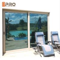 China Balcony Sliding Glass Patio Doors Hurricane Proof Impact Aluminum Metal Frame on sale