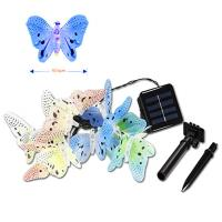 Electric Butterfly String Lights : Solar power led fiber butterfly string - 106847984