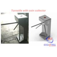 Quality CE 120 Volt Power supply Tripod Turnstile Gate With Coin Collector , Stable Working for sale