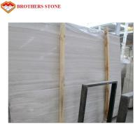 Wholesale White Wood Vein Marble Slabs And Tiles Not Easy To Stick Dust For Stair Railings from china suppliers
