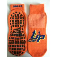 Wholesale China Supply Cotton Barre Grip Socks/ Trampoline With Sticky Bottoms/Non Slip Trampoline Socks With Rubber Grips from china suppliers