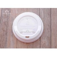 Wholesale Compostable PLA Flat Takeaway Cup Lids Eco Friendly 80mm / 90mm Diameter from china suppliers